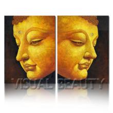 Сбалансированная картина портрета Будды для домашнего декора