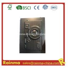 Черный PVC бумажный блокнот с формой камеры