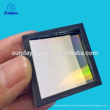 Rejilla holográfica de difracción cóncava cuadrada de cristal óptico de 600 mm