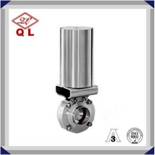 1 Inch pneumatic Stainless Steel Hygienic Sanitary Weld Butterfly Valves