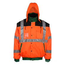 Hi Vis Reflective Safeyt Hooded Jacket