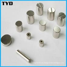 Imán sinterizado del neodimio del cilindro de alta calidad