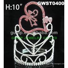 Couronne de couronne de cristal coeur -GWST0400