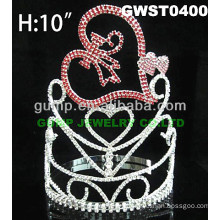 heart crystal tiara crown -GWST0400
