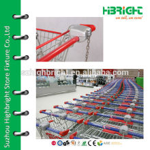 supermarket shopping trolley coin locks