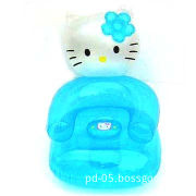 Inflatable Kitty Sofa with 0.2mm PVC Thickness and Sized 30-inch, Available in Various Colors