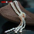 Мода ювелирные изделия Природные пресной воды Барокко Перл Длинные Ожерелье дизайн