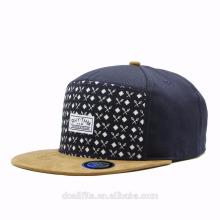 Casquillo y casquillo del casquillo del panel de 5 al por mayor / sombrero / casquillo planos del casquillo del snapback del panel del borde 5 en blanco