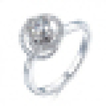 Lovers 925 Sterling Silver Inlay Crystal Opening Ring