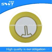 35mm 3.0kz piezo cerâmica disco de elemento piezo para alarme sirene dongguan fabricação