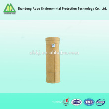 Heat insulation aramid filter bag used in cement plant