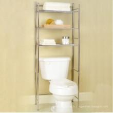 Au-dessus du support de stockage d'organisateur de salle de bains de toilette