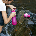 Outdoor Hiking Essential Filter Silicone Water Bottle