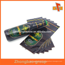Eco-friendly plastic PET heat shrink sleeve label for beer or plastic bottles with charming printing