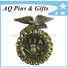 3D Ffa Metal Badge Souvenir avec badge antique (badge-006)