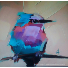 Peinture d'oiseaux sur toile