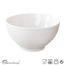 Embossed Ceramic Curry Porcelain Bowl