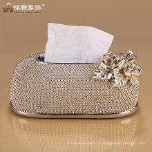 nova marca de luxo de design high-end caixa de guardanapo decorativo de jantar