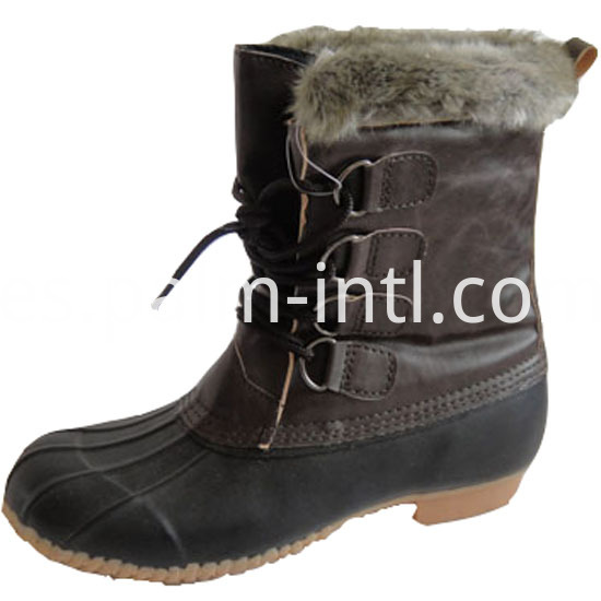 Woman Rubber Snow Weather Anti - Skid Boots
