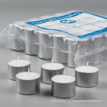 Aceite ardiente tazas de aluminio Velas blancas candelas