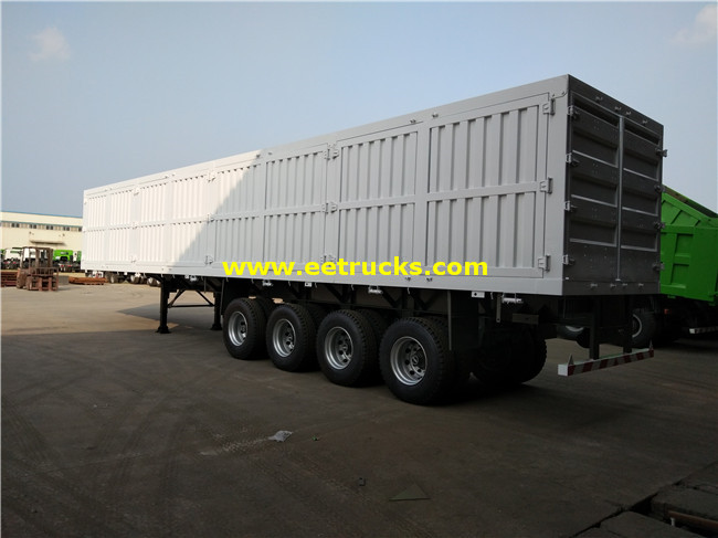 4 Axles Cargo Box Trailers