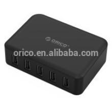 ORICO Estação de carregamento USB inteligente de 5 portas com IC de carregamento inteligente (DCAP-5S)