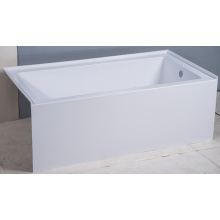 "Tile Flange Acrylic Seamless Apron Soaking Bathtub of 60""X32"""