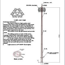 25m Drawing Design Reasonable Price LED High Mast Light