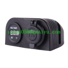 12-24V Car Cigar Power Socket with LED Voltmeter
