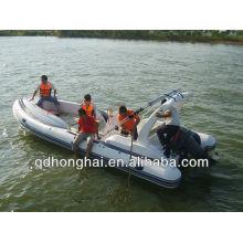 Barco de fibra de vidro inflável CE costela