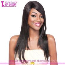 Melhor venda 100% peruca de cabelo humano remy para as mulheres negras peruca de cabelo humano indiano virgem