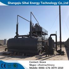 Usine de distillation de vide d'huile de pneu de rebut avec du CE