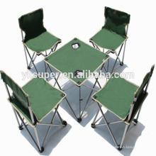 Alta qualidade cadeira de camping dobrável com mesa