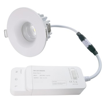 Downlight led cambiable de 8W CCT UGR <17 cubierta frontal