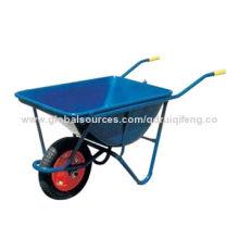 Heavy-duty and Depth Wheelbarrow, Solid Wheel Type, Pneumatic Wheel and PU Foaming Tyre