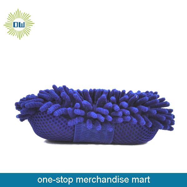 Chenille Cleaning Sponge With Mesh