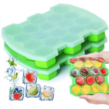 Bandejas de silicona personalizadas para cubitos de hielo con tapas