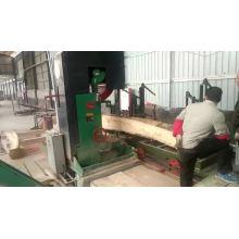 MJ329 high precise vertical log wood cutting machine with CNC log carriage