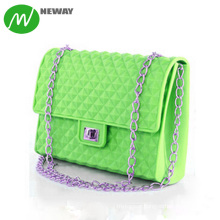 Fashion Lady Silicone Beach Candy Bag Shoulder Bag Women Neway, or OEM Brand 100% Silicone 200*150*55mm Moulding 500pcs NEWAY