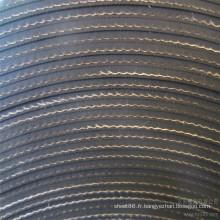 Feuille en caoutchouc insérée par tissu épais de nylon de 3mm