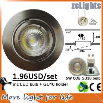 Buen precio COB Down 5W LED Light Downlight al por mayor (DL-GU10 5W)