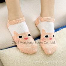 Verão bonitos crianças meias de algodão de corte baixo