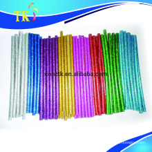 Colorful glitter hot melt glue stick/ hot melt glitter glue stick/