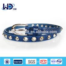 Fashion Ladies Shinny Rivits PU Belt