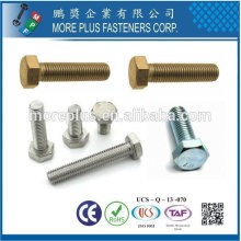 Taiwan Stainless Steel 4.8 DIN933 ISO4017 ANSI B18.2.3.1M Sechskantschrauben Hex Head Cap Screw Full Thread Hex Bolt