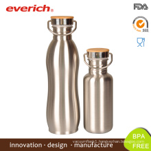 Everich Reflect Laser Screed Stainless Steel Bottle with Bamboo Cover