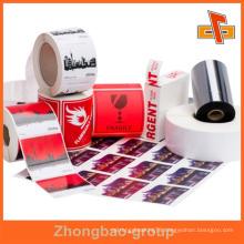 Guangzhou manufacturer wholesale printing and packaging material custom printable adhesive metal furniture label