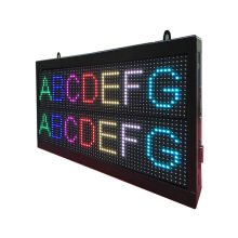 P7.62 Sete Cores Dupla Linha LED Mensagem Tela