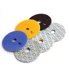 Dry polishing pads for granite marble quartz engineer stone