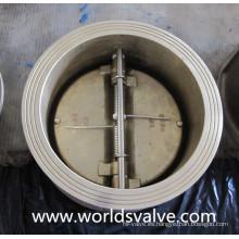 Válvula de retención de doble placa de bronce (H77X-10/16)